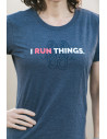 I run things. lifestyle tee coral