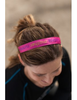 badass mother runner Sweaty Bands (pink)